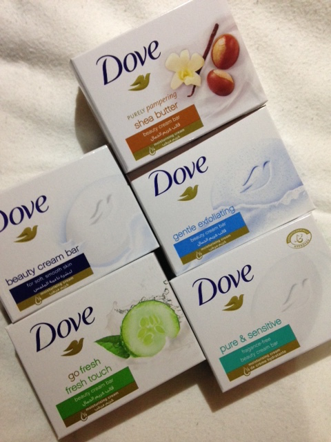 Dove cleansing bars