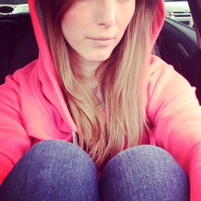 me in hoodie
